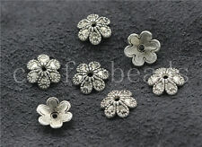 100/500pcs Tibetan Silver Flower Bead Caps Charms Beads Cap Jewelry Craft 9mm