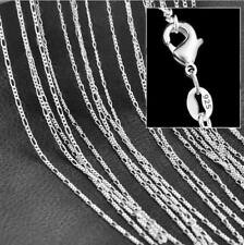 Figaro 925 Sterling Silver Necklace Chain Silver Figaro Chain Necklace