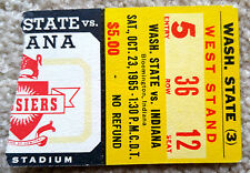 INDIANA UNIVERSITY HOOSIERS FOOTBALL TICKET STUB v WASHINGTON STATE 1965 - RARE!