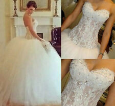 Plus Size Ball Gown Wedding Dresses Sweetheart Long Bridal Gowns Custom Made