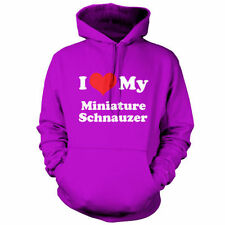 I Love My Miniature Schnauzer - Unisex Hoodie / Hooded top - Dog - Canine - Pupp