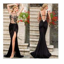 Long Dress Prom Gown  Evening Formal Party Sexy Lace Chiffon Backless