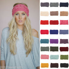 Women Winter Fashion Ear Warmer Headwrap Crochet Knit Flower Hairband Headband