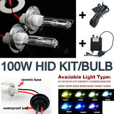 100W HID Kit Car Headlight Conversion Xenon Light Bulbs Ballast Lamp Replacement
