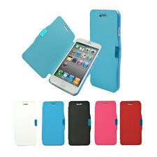 Super Thin Magnetic PU Leather Flip Case Slim Full Body Protect Cover For iPhone