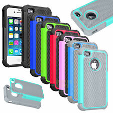 Impact Armor Shockproof Rubber Matte Hard Case Cover For Apple iPhone 4 4S 4G