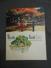 Vintage Myrtle Bank Hotel Kingston Jamaica BWI British West Indies Dinner Menu