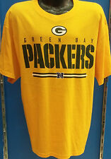Green Bay Packers Official NFL Football Yellow Majestic Tee T-Shirt