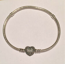 Genuine PANDORA Pave Heart Moments Bracelet 590727CZ **FREE DELIVERY**