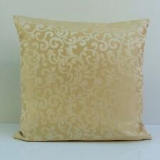 Beige cream Satin Blend Decorative Throw Pillow Cover with Pattern,Accent Pillow