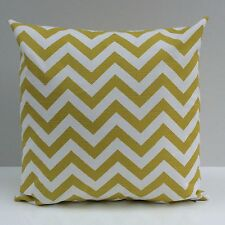 Lime Green and white Chevron Cotton Decorative Throw Pillow Cover,Accent Pillow