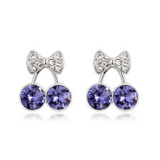 Crystal Gold Plated Stud Earrings With Swarovski Elements For Any Ocasion Boxed
