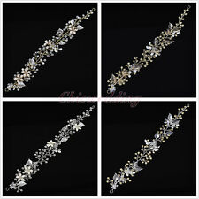 Crystal Flower Leaves Bridal Wedding Hair Vine Band Headband Headpiece Accessory