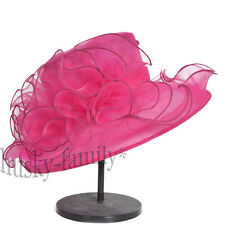 elegant Kentucky derby wedding church party hat organza dress floral summer hat