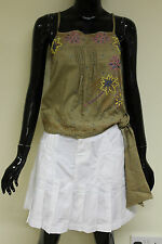 Sonneti womens pleated summer white casual party tennis skirt size 10