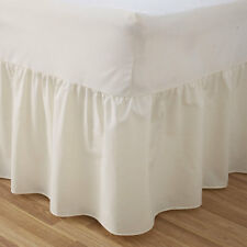 Luxury Plain Dyed Poly Cotton Fitted Valance Sheet Bed Multi Colour Cover Charm
