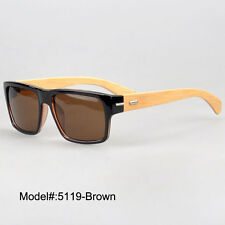 5119 quality mens vogue big size PC UV400 sunglasses bamboo temple RX eyeglasses