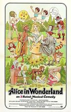 ALICE IN WONDERLAND Movie Poster Adult XXX VHS Comedy Spoof Ultra Rare