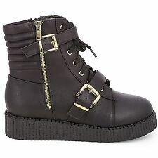Women's Boots Hidden Wedge High Boots Sneaker Black Buckle Shoes Ankle Boots
