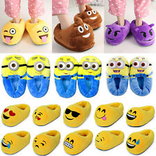 Emoji Minions Despicable Me Plush Stuffed Men Women Slippers Winter House Shoes