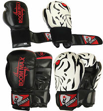Boommax Rex Leather Boxing Gloves Fight Punch Bag Muay Thai MMA Grappling Kick
