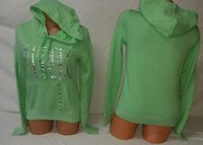 """Victoria's Secret PINK Iridescent Graphic Foil"""" BLING"""" Green Pullover"""