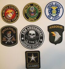 US Military Patch~Embroidered~Army-Air Force~Marines-Special Forces~US Seller