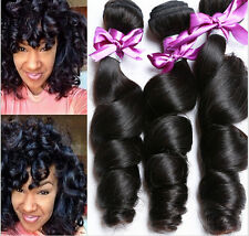 3 Bundles Virgin Human Hair Weft 150g Peruvian Loose Wave Weaves Hair Extensions
