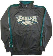 Philadelphia Eagles Mens Tricot Full Zip Track Jacket Charcoal Big & Tall Sizes
