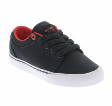 GLOBE GS KIDS BLACK RED CANVAS YOUTH SKATEBOARD SHOES FREE DELIVERY AUSTRALIA