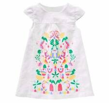 NWT Gymboree Girls Island Cruise Tropical Lined Linen Dress Size 18-24 2T & 3T