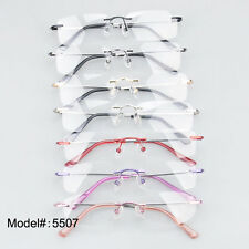 5507 rimless metal optical frames men women glasses eyewear popular spectacles