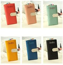 Lady's Hot 6 Colors Long Purse Clutch Wallet High Quality Zip Bag Card Holder PU