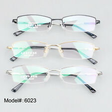 6023half rim optical frames RX eyeglasses stainless steel myopia eyewear glasses