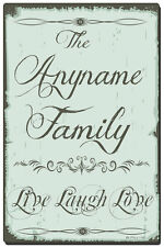 Personalized and Custom Made Wall Plaque with Your Name - Live Laugh Love
