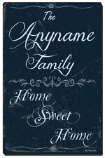 Personalized and Custom Made Wall Plaque with Your Name - Home Sweet Home