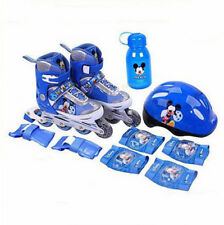 Mickey Mouse Kids Boys Adjustable Roller Blades Inline Skates Combo Set 2 SIZES