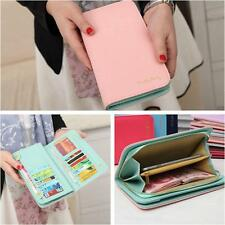 Leather Bifold Wallet Clutch Card Holder Women Lady Purse Lady Long Handbag HOT