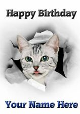 Cat Any Occasions Personalised Greeting Card Birthday Fathers Mum Nan PID019 Mom