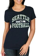 Seattle Seahawks NFL Majestic Womens Franchise Fit Shirt Navy Plus Size 2X