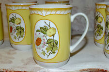 GEORGES BRIARD SOMERSET MUG (8) available  fruit flowers yellow   EXC