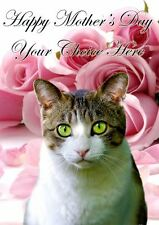 Domestic Cat Mothers Day Personalised Greeting Card pidmother Mum Mummy