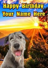 Wolfhound   Occasions Personalised Greeting Card Birthday Fathers Mum PIDOA93