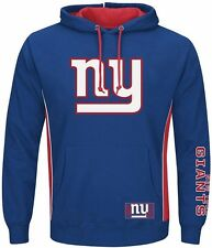 New York Giants NFL Majestic Mens Passing Game IV Hoodie Royal Size 3XT