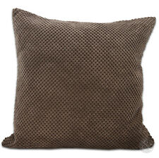 Chenille Cushion Covers - Chocolate Brown Super Soft Small & Large Cushions