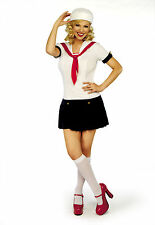 Women Ladies Fancy Dress Full Costume Little Miss Sailor Sexy Outfit Classified
