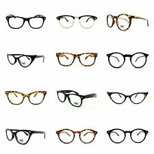Retro Geek Vintage Wayfarer Nerd Frame Fashion Black Round Clear Lens Glasses