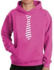 Striped Tie - Wear Pink Against Bullying Pink Day Hoodie Anti-Bullying