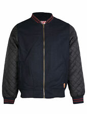 Mens Tokyo Laundry Lanvale quilted sleeve wool blend baseball jacket S-XL