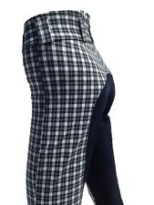 Ladies Breeches, Womens Checked Jodhpurs,Full Seat Suede. Sizes 8,12,14,16,18